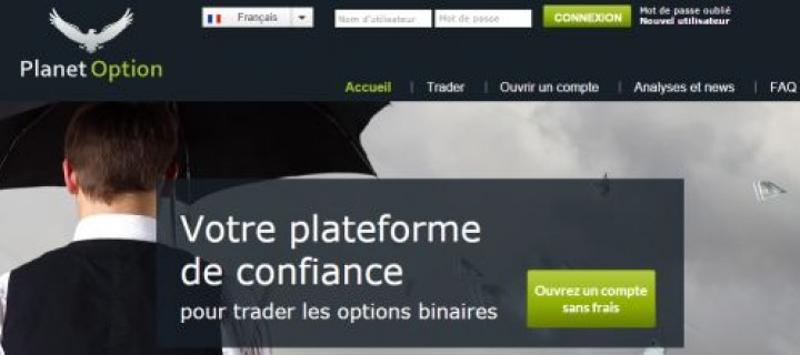 Planet Option, un mauvais broker sous licence Russe